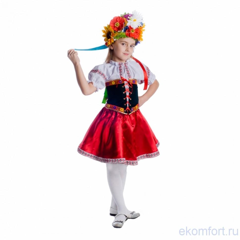 Украинский костюм для девочек своими руками