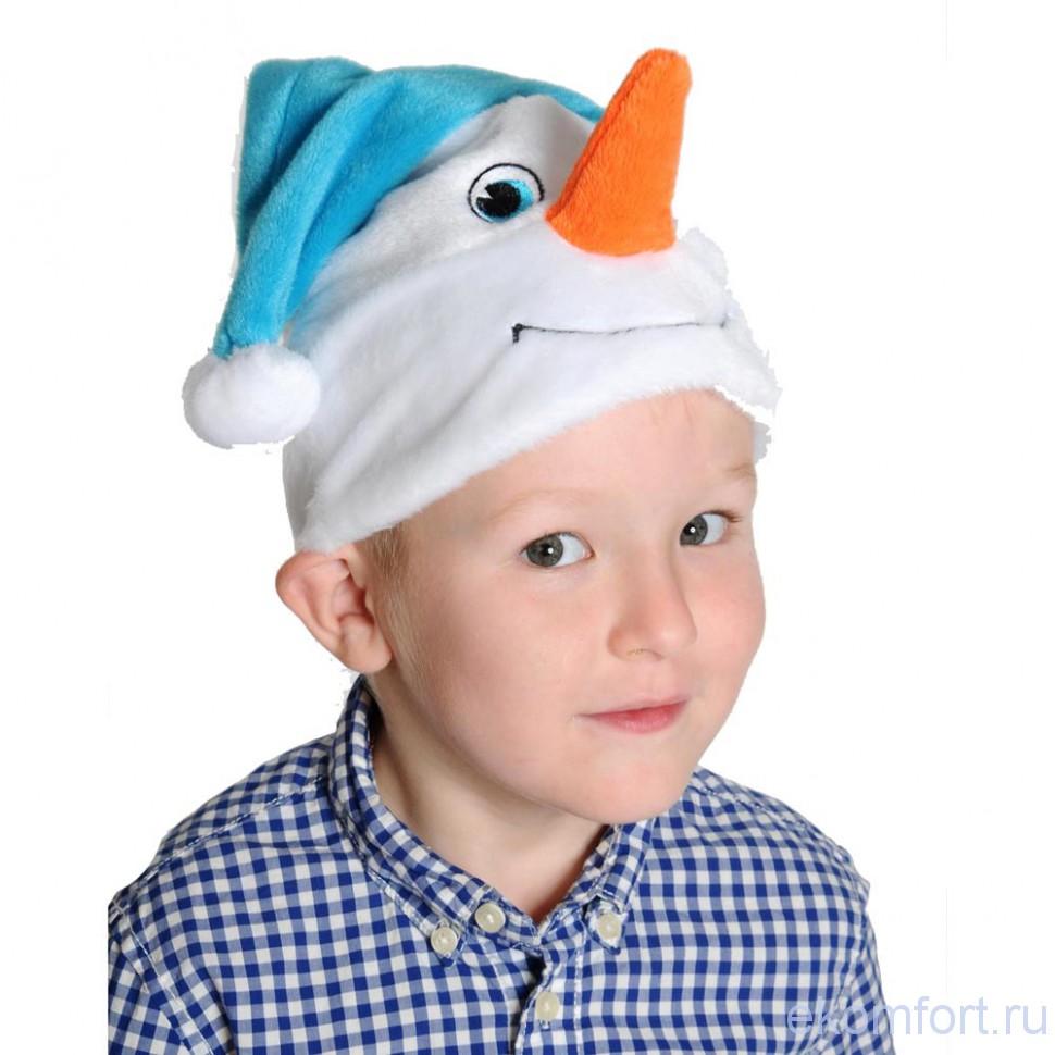 Как сделать шапку снеговика для ребенка
