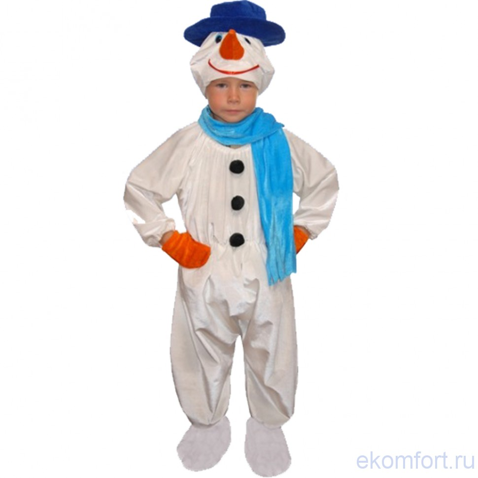 Костюм снеговика для ребенка своими руками