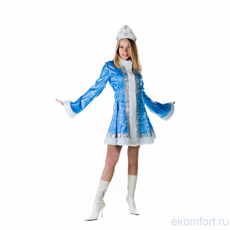 Новогодний костюм Снегурочка мини - photo#49