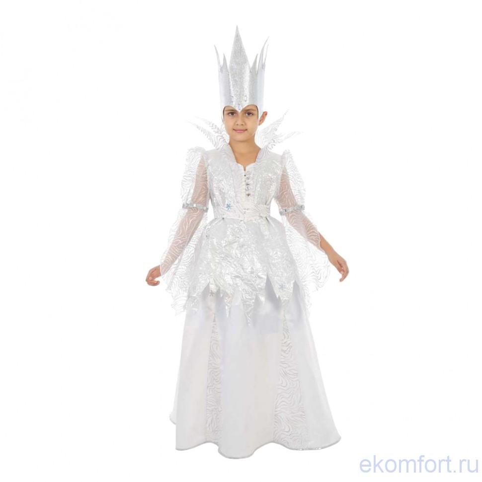 Простой костюм снежной королевы своими руками