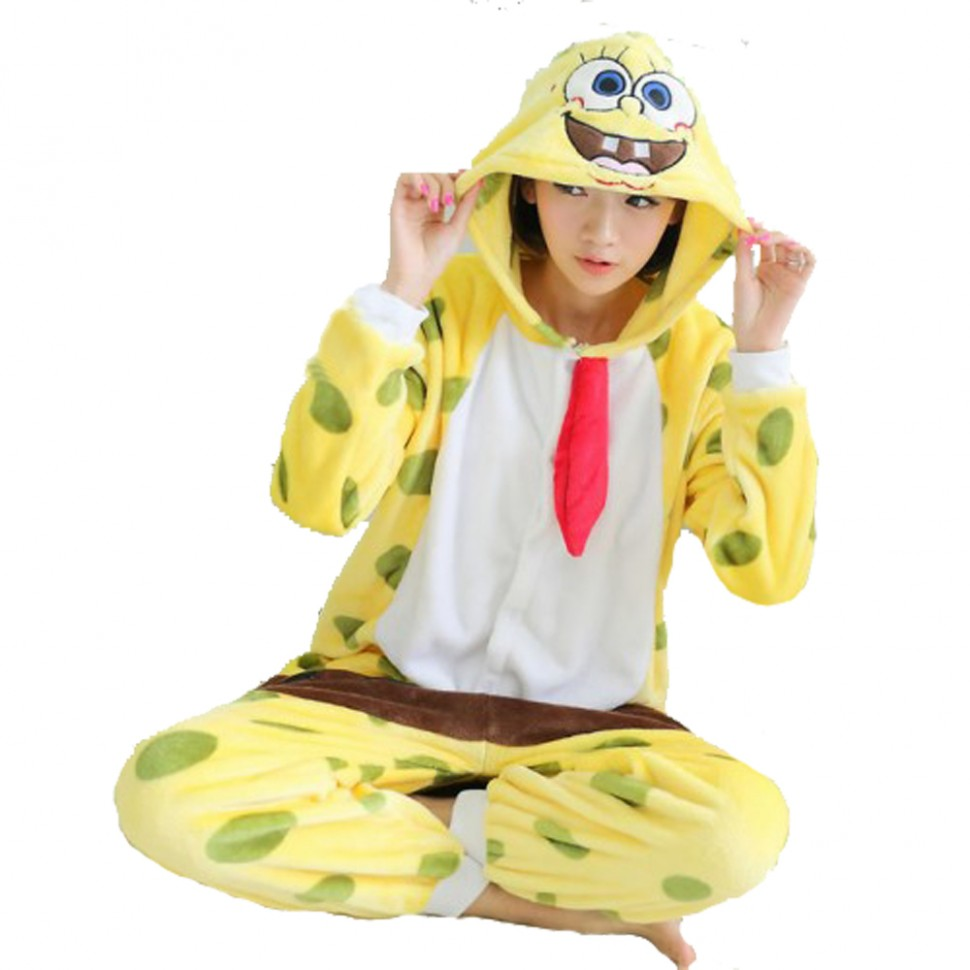 Карнавальная пижама Кигуруми Спанч Боб. Карнавальная пижама Кигуруми Спанч  Боб. Комплектность  комбинезон с c373a21b939a7