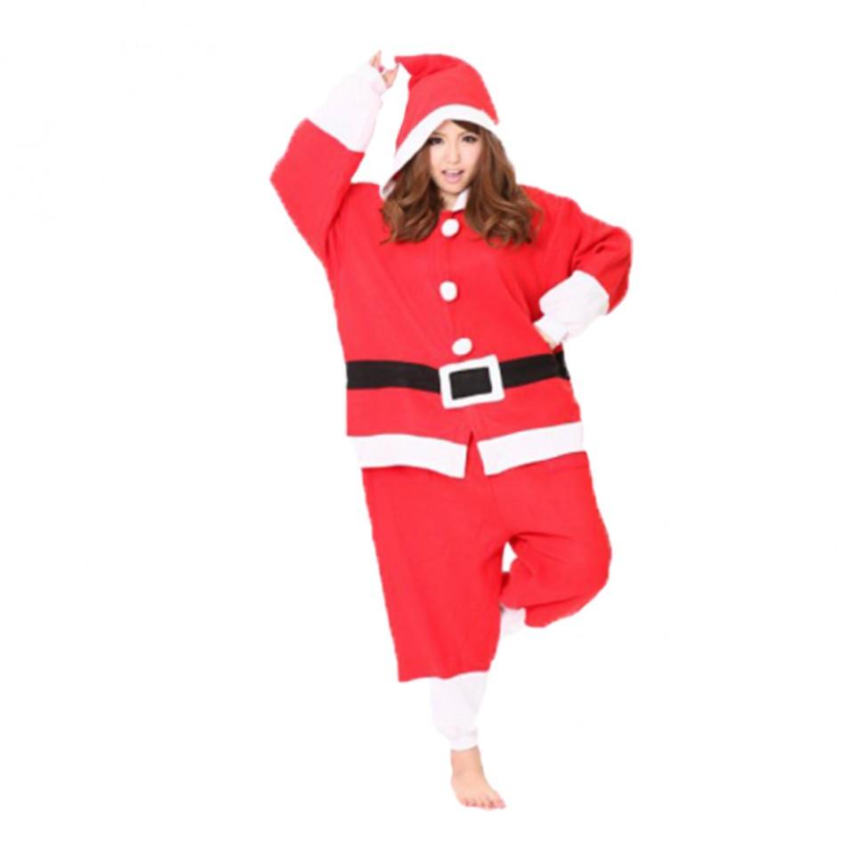 Карнавальная пижама Кигуруми Санта Клаус Комплектность  комбинезон с  капюшоном. Ткань  велсофт. Размер ad4b769ac0246